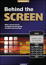 book cover: Behind the Screen - The Nokia Story, hard cover edition