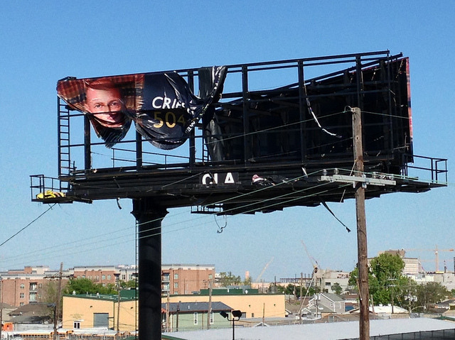 broken billboard. Photo by Bart Everson.