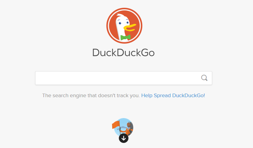 DuckDuckGo search engine screen shot