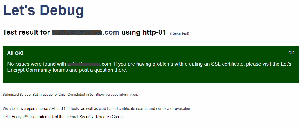 lets debug online tool for identifying certificate problems at web sites