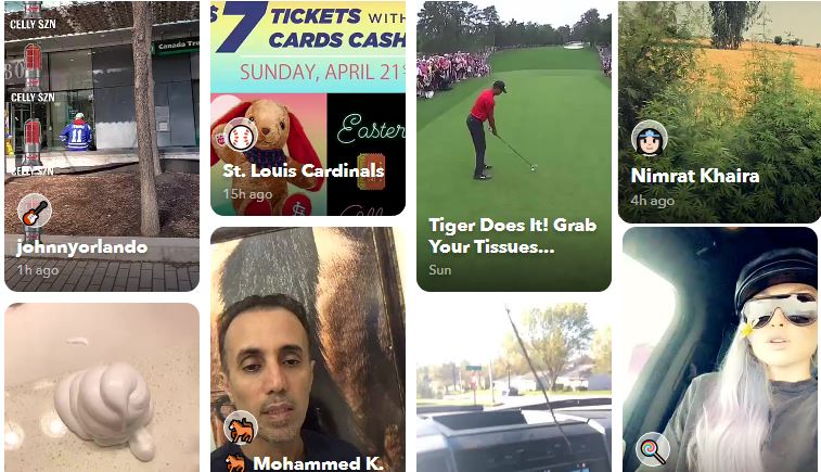 Snapchat front web page screen shot