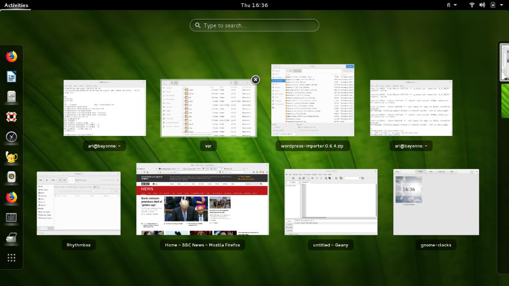 debian 8 jessie with gnome ui, apps open