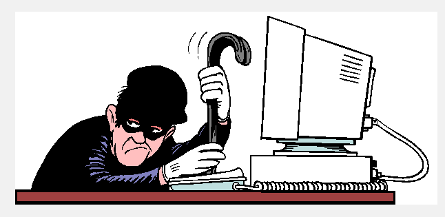 hacker computer cartoon