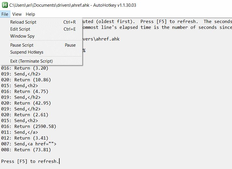 autohotkey  key function scripting tool