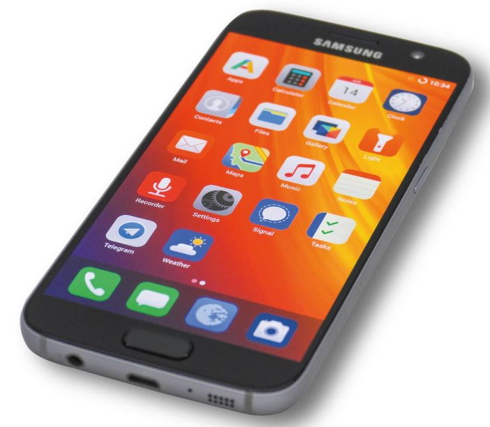 samsung galaxy 7 running /e/ software