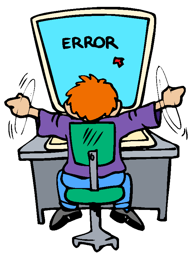 computer error, cartoon character