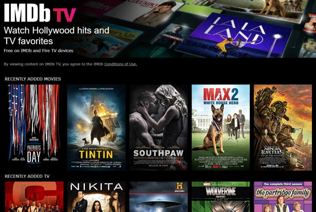 imdb streaming service screen capture
