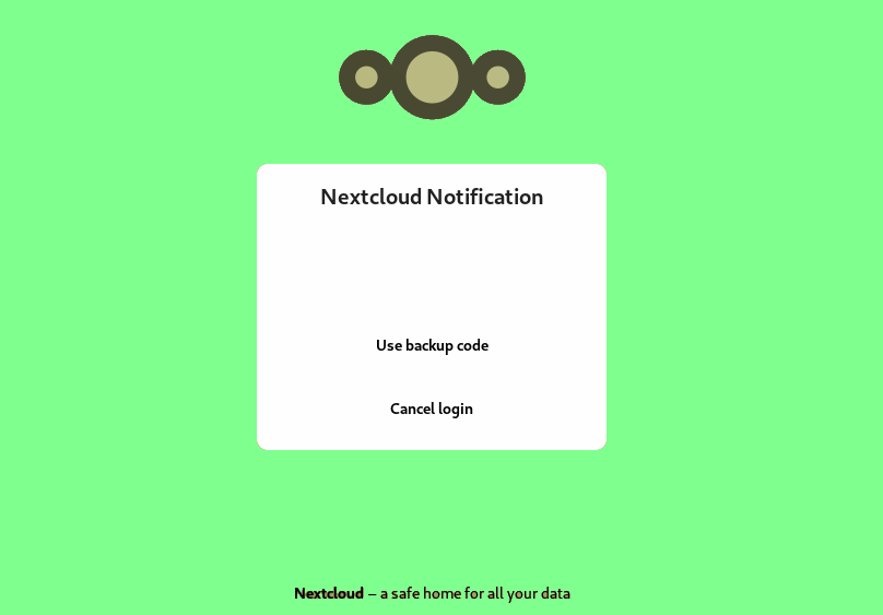 nextcloud authentication via notifications