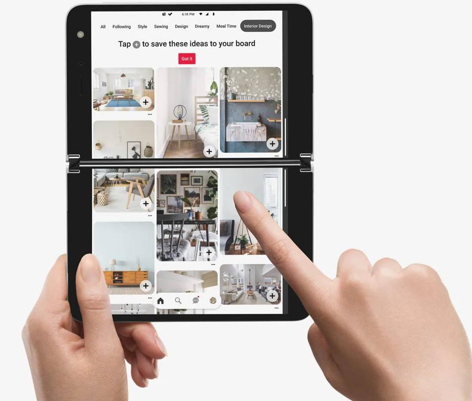 microsoft surface duo dual screen smartphone