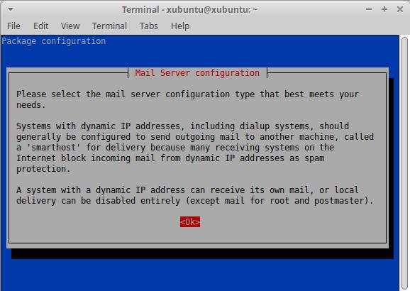 exim4 mail server configuration tool