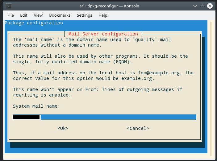 exim4 email software configuration